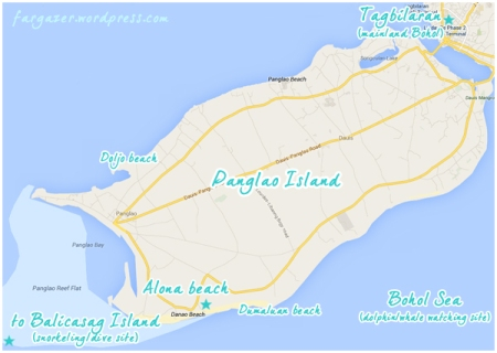 Panglao Island vicinity map